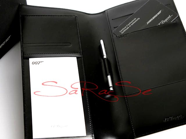 Brieftasche S.T. Dupont James Bond 007 Ledernotizbuch