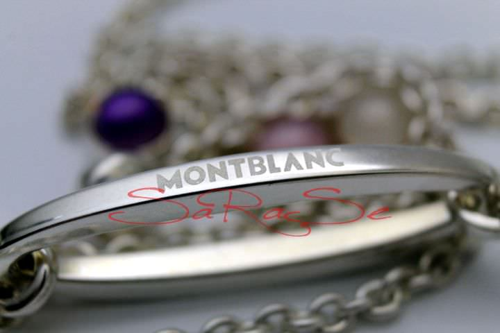 Kette Montblanc Cabochone Solid 925 Sterling-Silber - Collier Art.-Nr. 106865