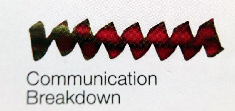 Tintenfass DIAMINE Zwei Farben Tinte Communication Breakdown Flacon 80ml