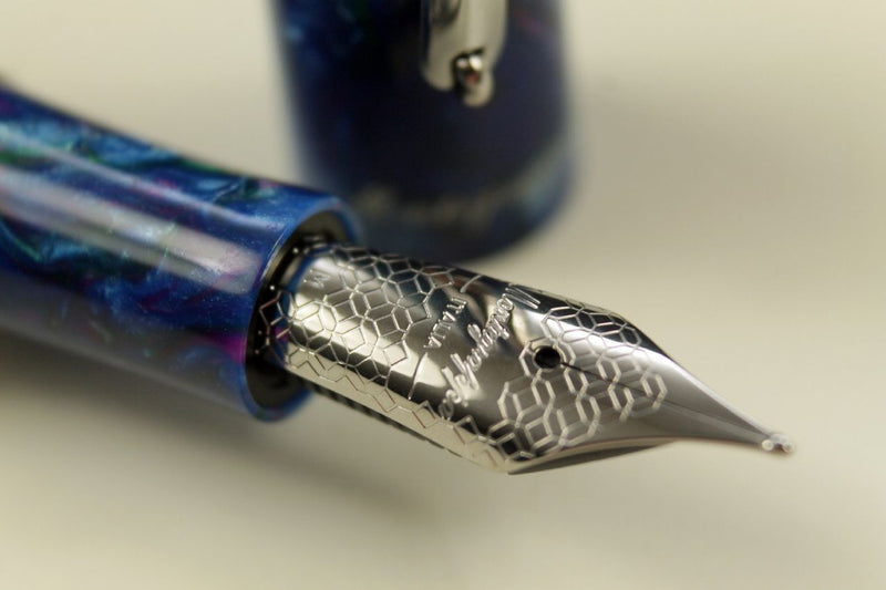 Füller Montegrappa Elmo 01 Fantasy Bloom Blue Cross Gentian Blau