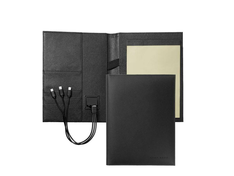 Stiftset Hugo Boss Storyline Black Schreibmappe A5, Power Bank  Art.-Nr. HDN909A