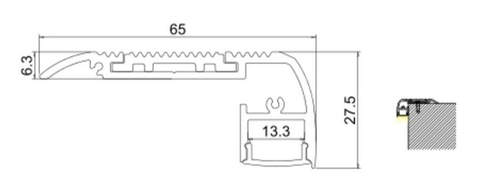 Measurements: Stair & Step Aluminium Profile Channel for LED Strip (2m)
