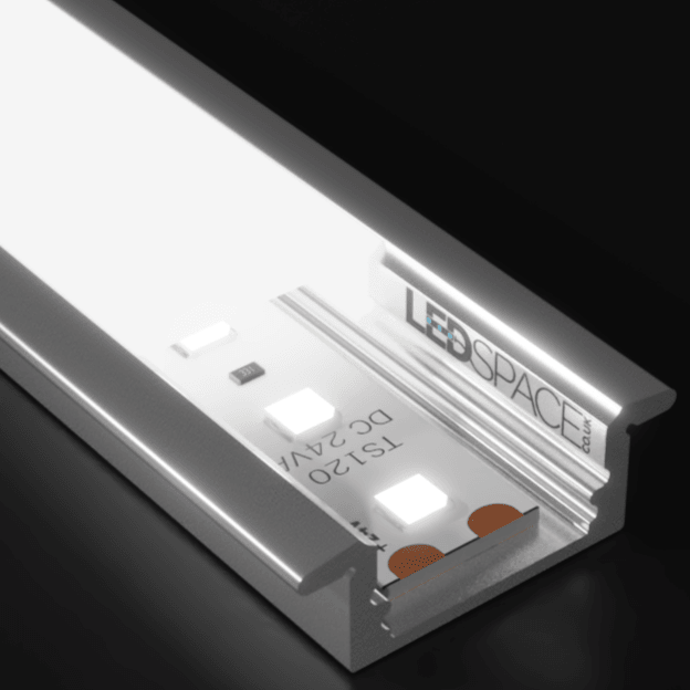 17mm Recessed Aluminium Profile Channel for LED Strip (2m)