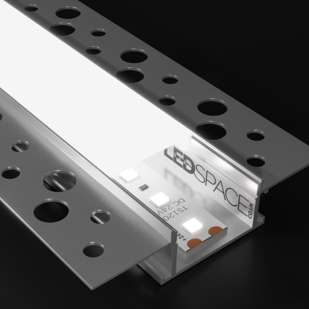 Plaster In Aluminium Base Profile and Diffuser For LED Strip  (2m)