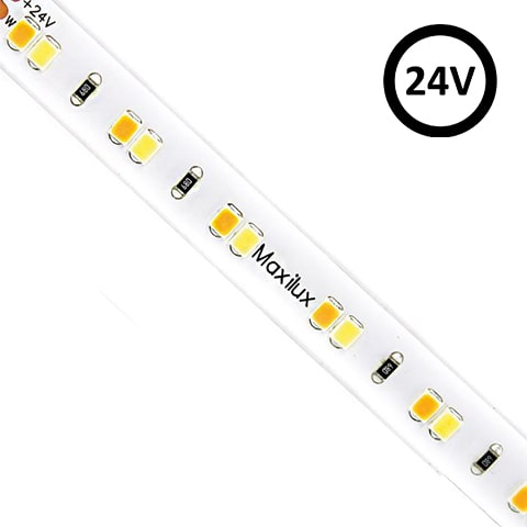 Adjustable White LED Strip Light | 2400-5800K | 120 LED | 24V 12w