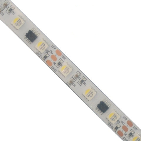 Splashproof 12V RGBW PixelStrip In Silicon Sleeve | 60 LED | UCS2904