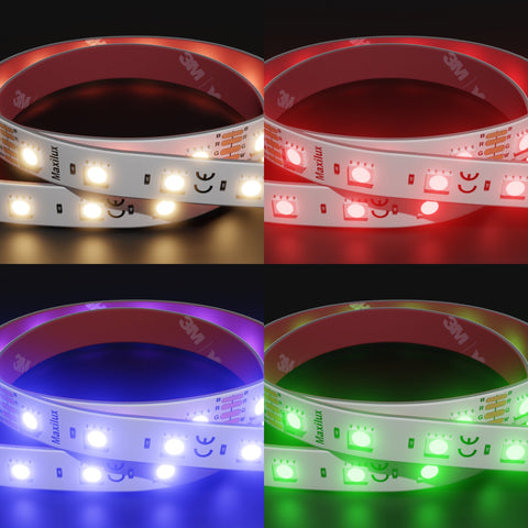 60 LED RGB+Warm White Colour Strip | 24v | 15w