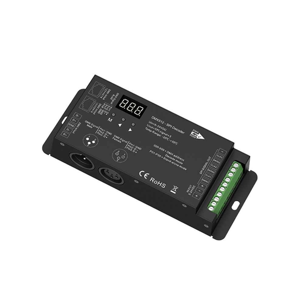 DMX To SPI Decoder & HaloLED SPI LED Strip Controller
