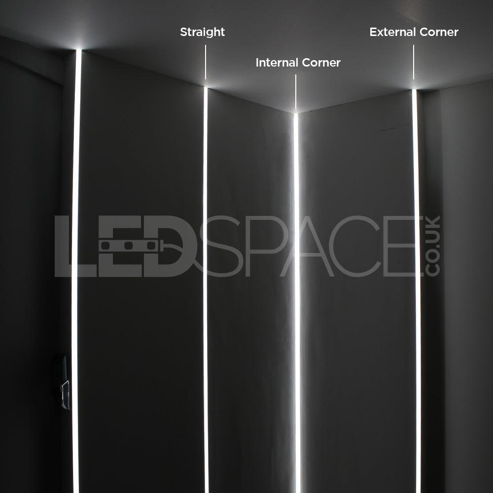 External Corner Recessed Plaster In Aluminium Profile Channel For Led Strip (2.5M) | Ledspace