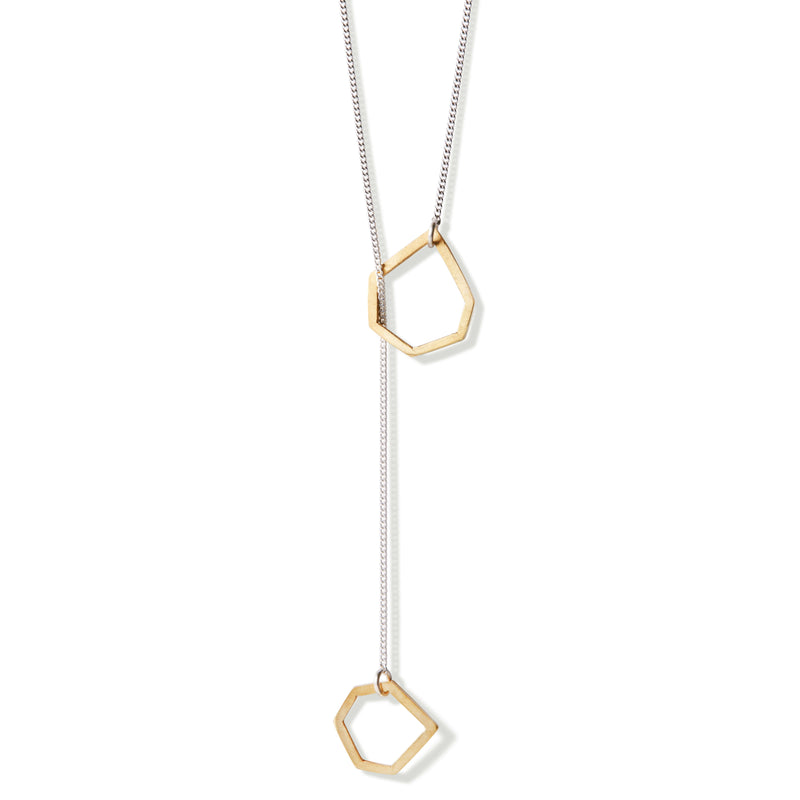 Gold Open Geo Necklace