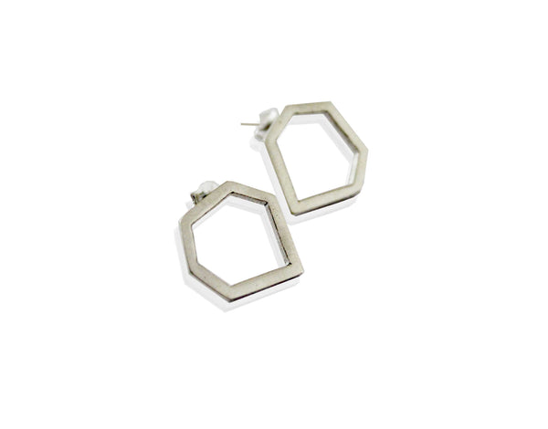 Geometric shaped earring studs.