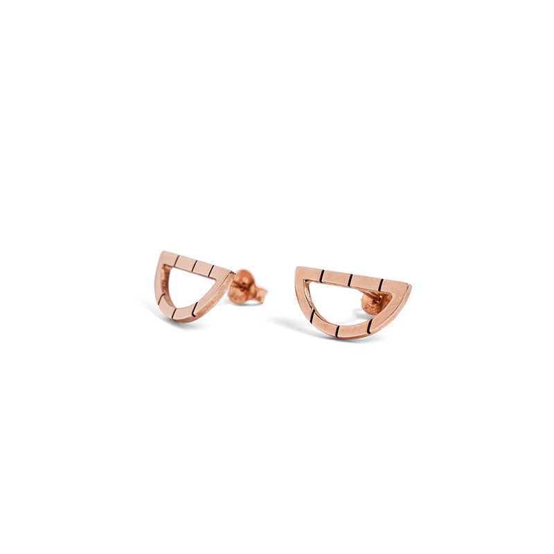 Rose Gold Arch Studs