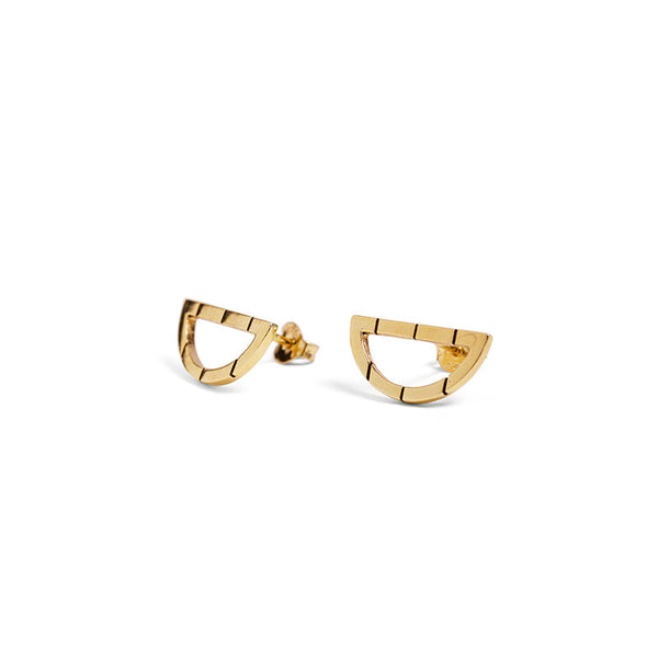 Yellow Gold Arch Studs