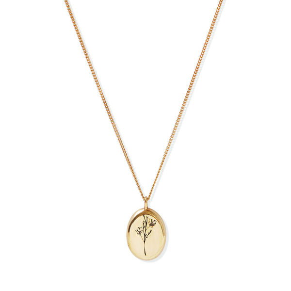 Gold Botanical Pendant