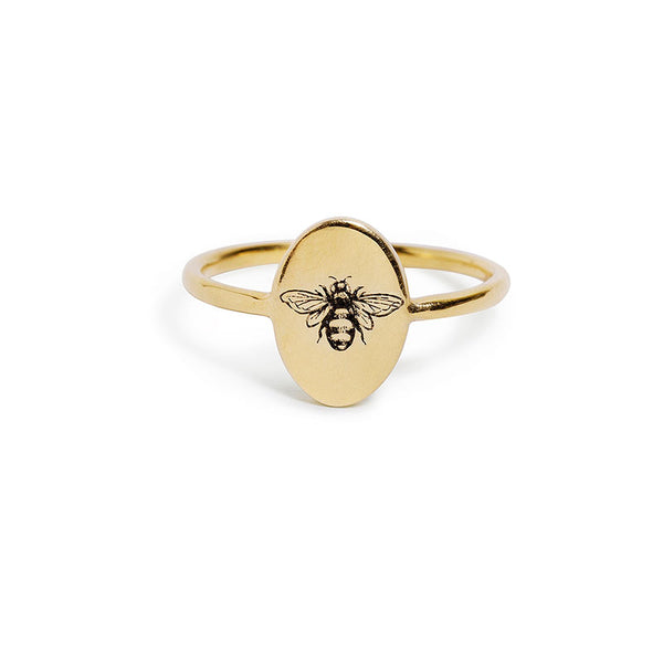 Gold Bee Ring