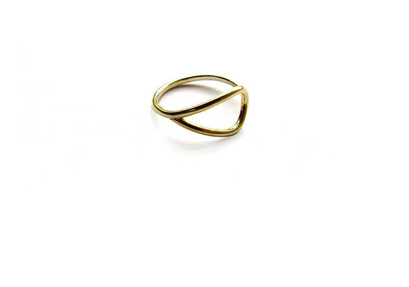 Brass Teardrop Ring