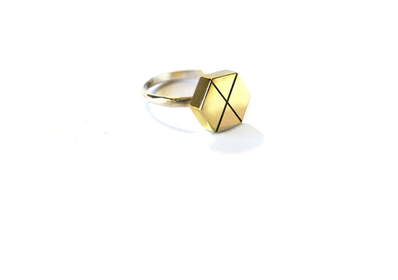 Pattern Hex Ring