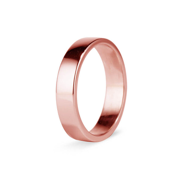 Rose Gold Plain Men's Band