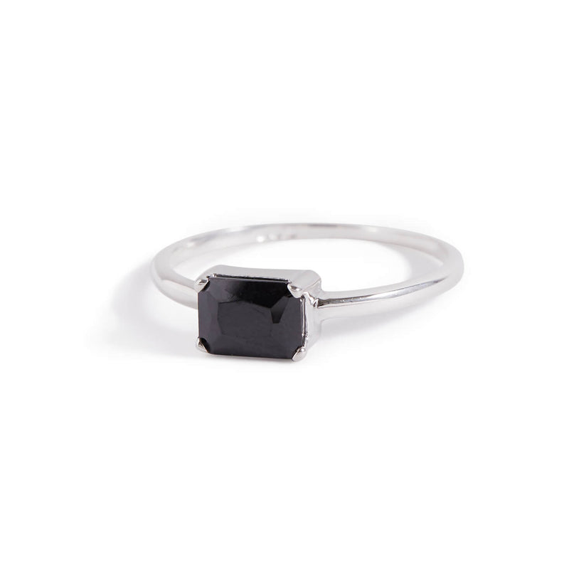 Onyx Baguette Ring