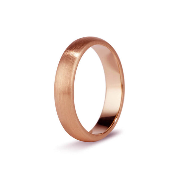 Rose Gold Brushed Men's Band