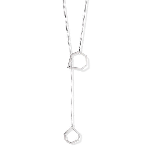 Silver Open Geo Necklace