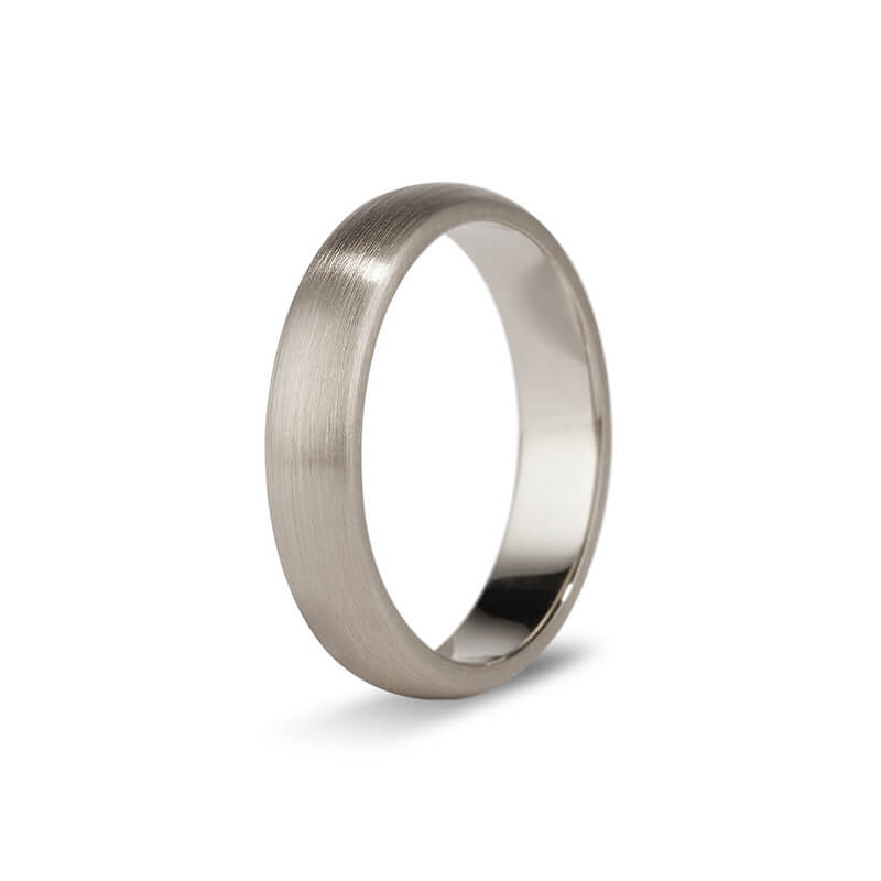 White Gold Brushed Men's Band