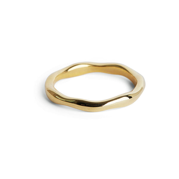 Thick Gold Wobble Ring