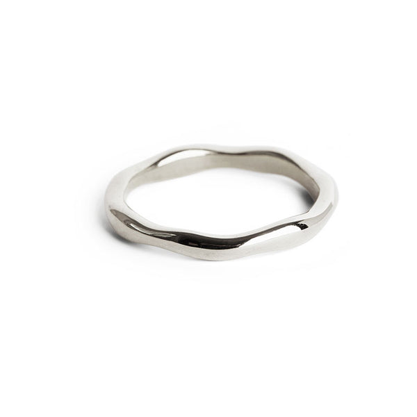Thick Silver Wobble Ring
