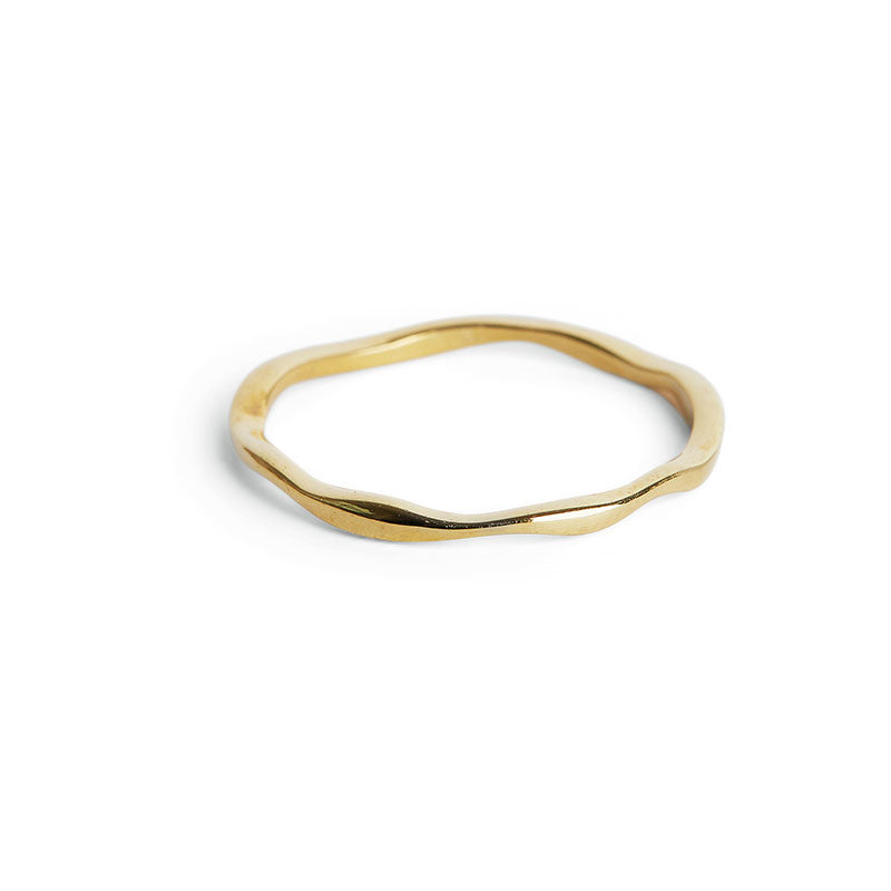 Thin Gold Wobble Ring
