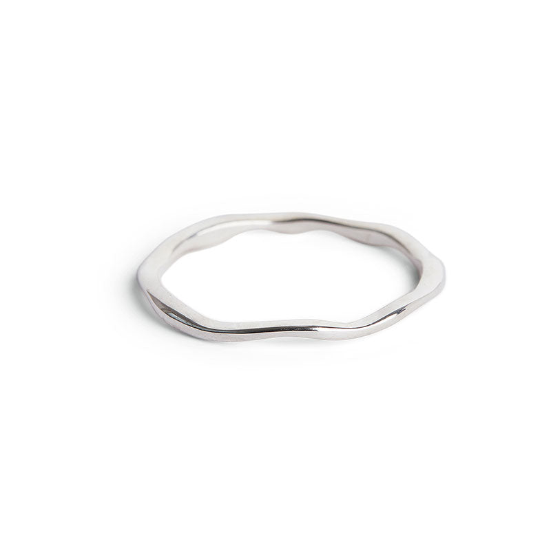 Thin Silver Wobble Ring