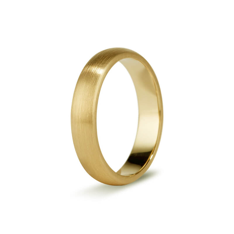 Yellow Gold Brushed Men's Band