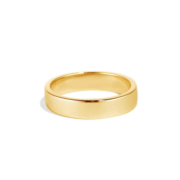 Yellow Gold Plain Men's Band