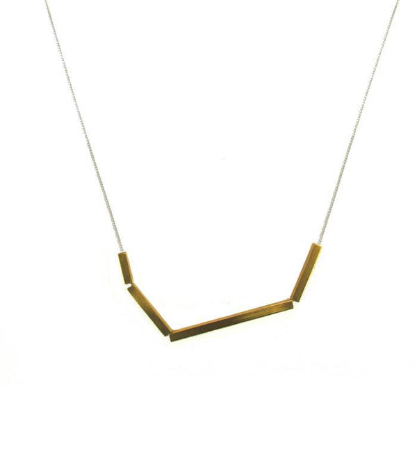 Multiple Brass Bar Necklace