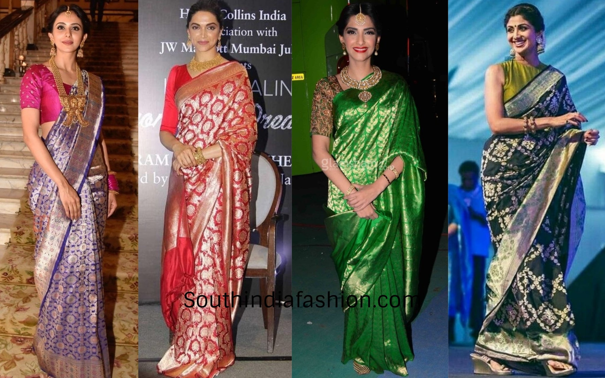 Which banarasi drapes suit which occasion?