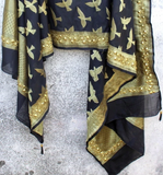 Black Parindaa Dupatta With Multi-Stud Handwork