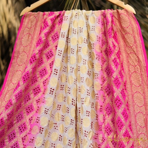 Handwoven Georgette (popularly known as Khaddi)