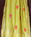 Lemon Yellow Dupatta Blossoms