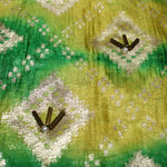 Pure Tie & Dye Brocade Fabric With Handwork - shoonya banaras