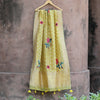 Lemon Yellow Blossom Flavoured Pure Banarasi Dupatta - shoonya banaras