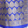 Royal Blue Banarasi Silk Stole - shoonya banaras