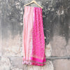 Color Block Banarasi Dupatta in Powder & Fuschia Pink With Mirror HandWork Details - shoonya banaras