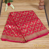 Hot Pink Banarasi Silk Saree With All-Over Figure Motifs - shoonya banaras
