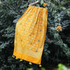 Yellow Banarasi Silk Dupatta With All-Over Handwork Highlights - shoonya banaras
