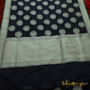 Black Banarasi Silk Saree With Floral Motifs