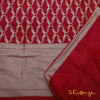 Red Banarasi Silk Saree With Jangla Figure Weaves