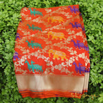 Orange Meenakari Shikargah Banarasi Silk Saree - shoonya banaras