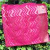Fuschia Pink Color Banarasi Silk Dupatta in Zig-Zag Weaves - shoonya banaras