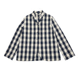 Apuntob Cotton Jacket in Butter/Blue Large Check