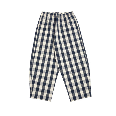 Apuntob Trousers in Blue/Butter Large Check