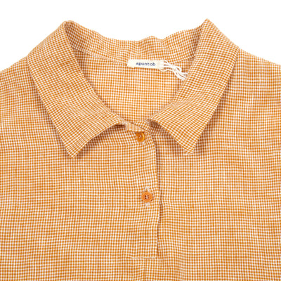 Apuntob Gingham Dress in Pumpkin